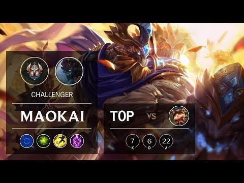Maokai Top vs Teemo - EUW Challenger Patch 9.24