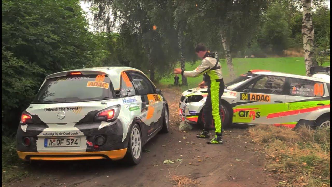 Wrc adac rallye deutschland 2016 highlights crash action all day s youtube