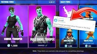 *NEW* Ghoul Trooper Back In Item Shop! Fortnite: Battle Royale