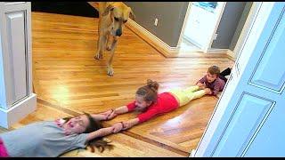 DRAGGING 5 KIDS ACROSS THE FLOOR!