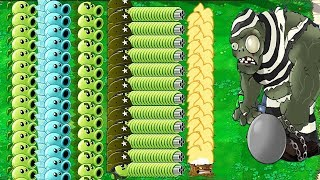 All Pea PvZ vs Dr. Zomboss Epic Hack Plants vs Zombies