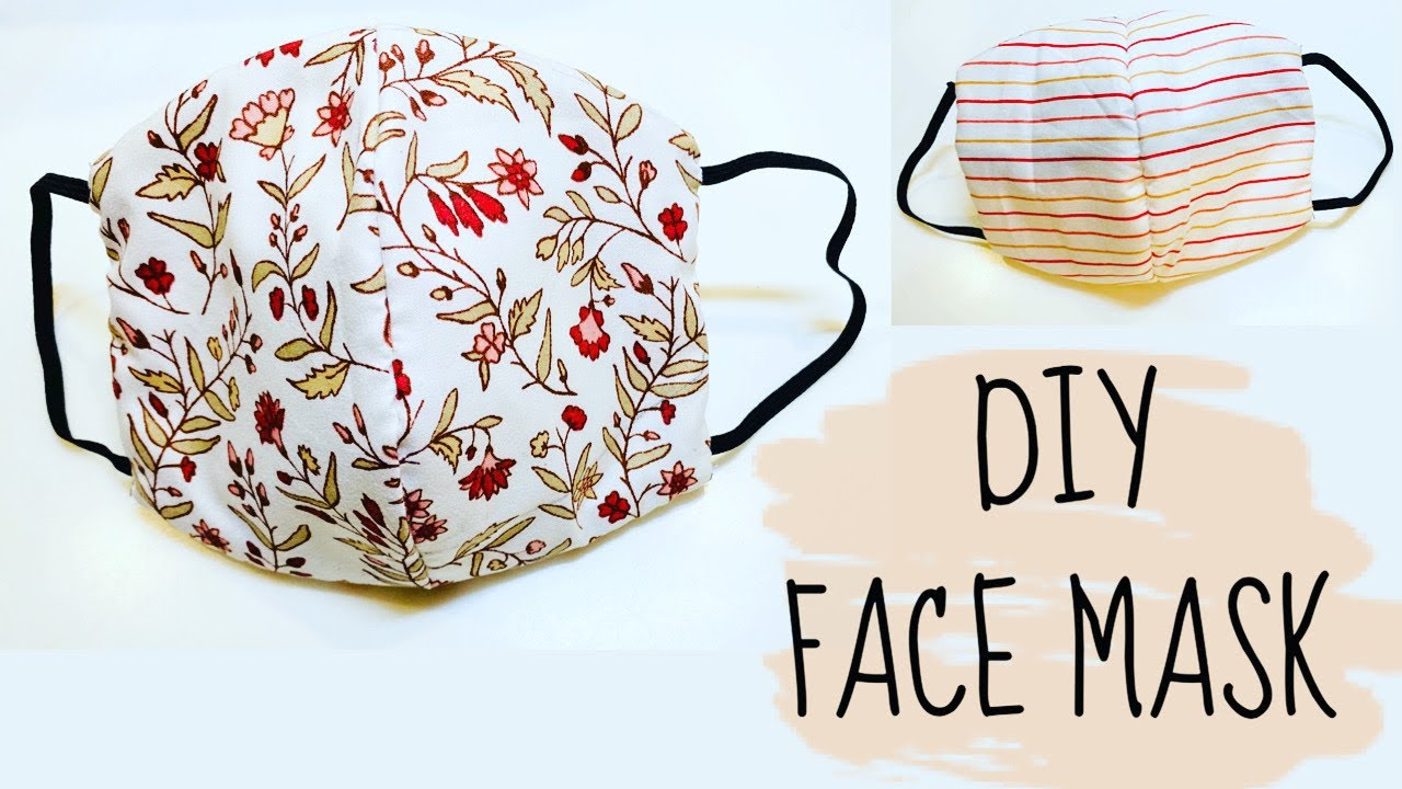 DIY: How to sew Face Mask | NO Sewing Machine!