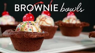 How To Make Brownie Bowls For Your Ice Cream
