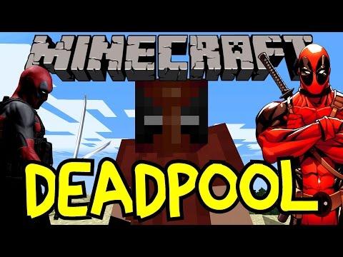 Deadpool In Minecraft! One Command Block Creation Superhero Marvel Comics | Vanilla Showcase No Mods