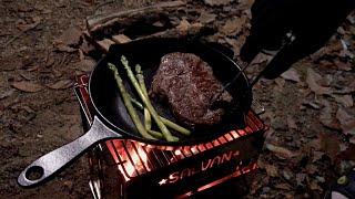 캠핑요리 스테이크 고기 굽는 소리  ASMR - 30 …