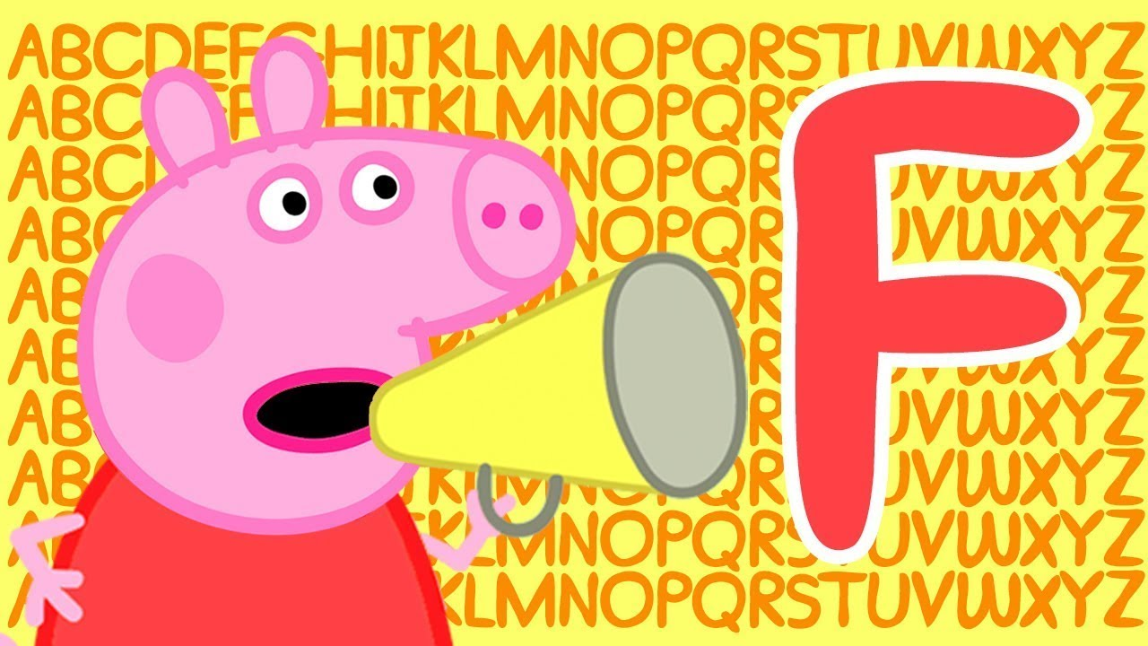 Peppa Pig Letter F Learn The Alphabet With Peppa Pig Abc Letter Boxes Learn With Peppa Pig Youtube