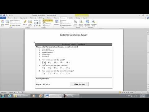 Entering the VB Code for the Checkboxes - Checklist Survey in Microsoft Word 2010 (part 6 of 9)