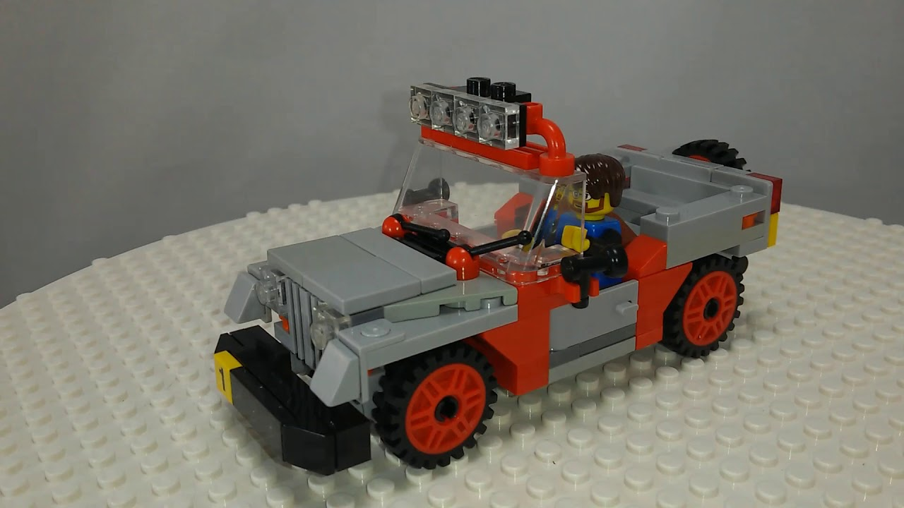 Custom Lego Builds Jurassic Park Jeeps Moc Instructions Youtube