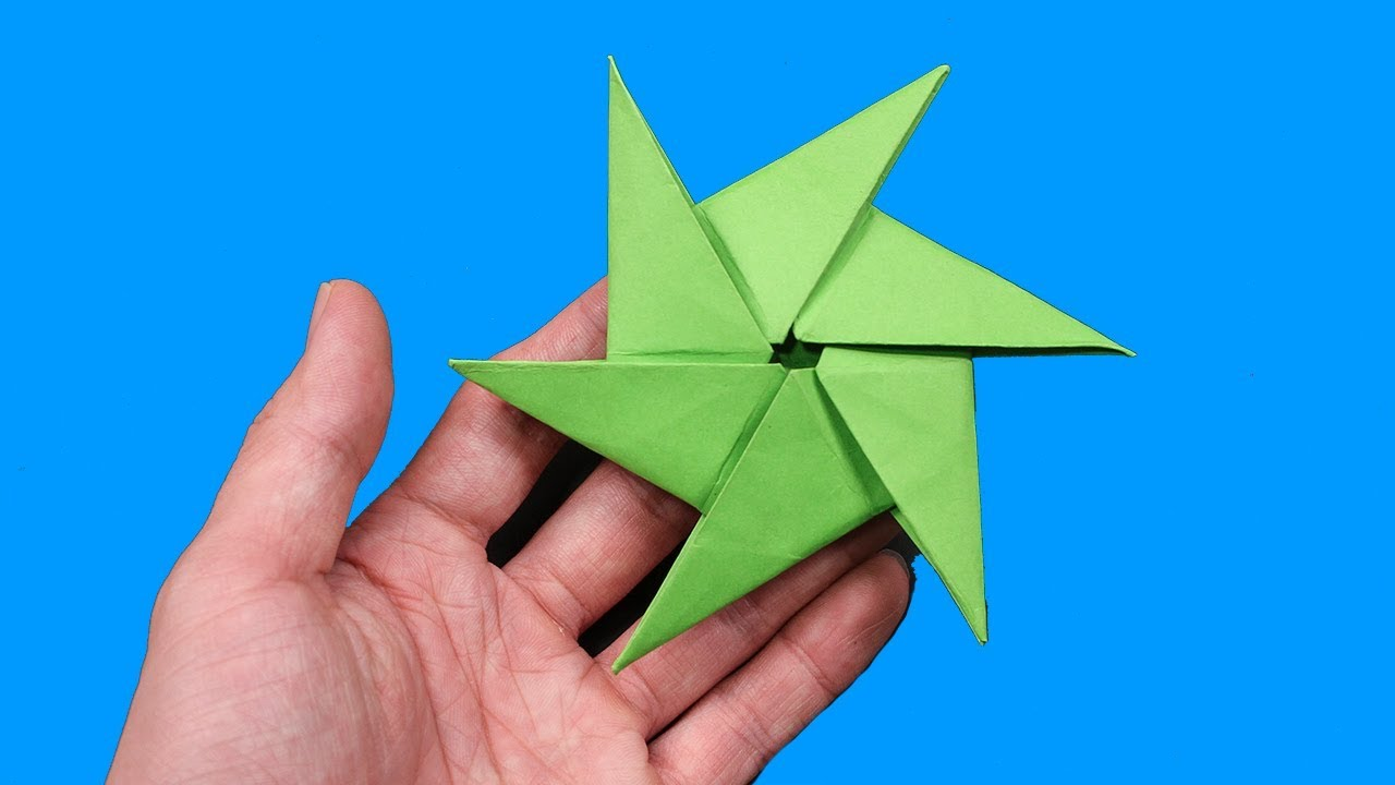 How to Make a Paper Pointy Ninja Star (Origami Throwing Star ... | 720x1280