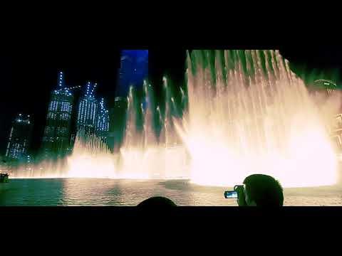 Water dance at Dubai fountain🤩