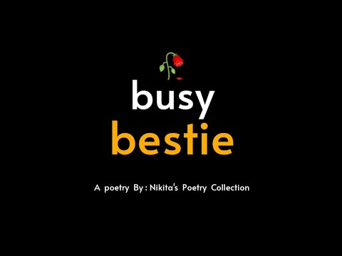 Busy Bestie😢🥀   Bestie Poetry WhtsapStatus   Best Friend Poetry   Hindi   Nikita's Poetry Collection