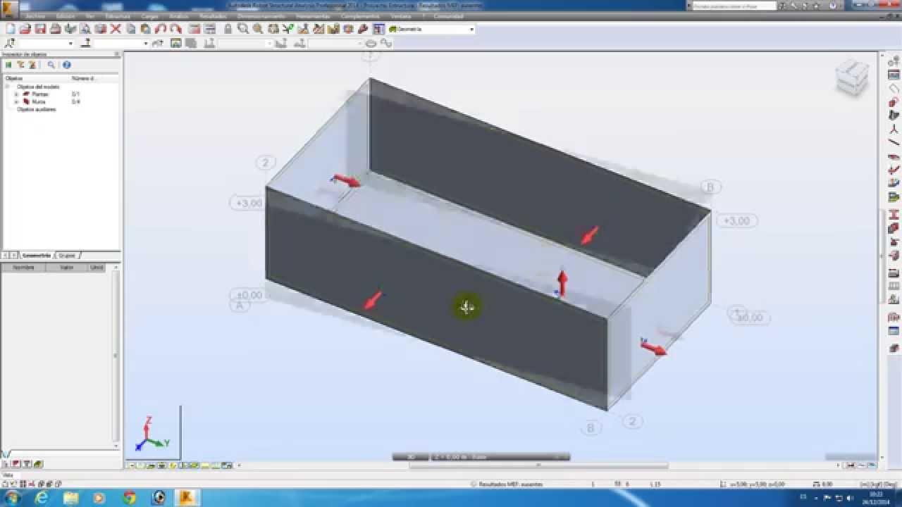 Robot structural 2014 castellano tutorial 9 calculo for Calcular volumen piscina