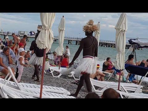 фото с неграми на лазаревском пляже своими