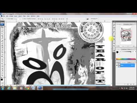 How to create base white & CMYK Color Separation in Photoshop for colored t shirt