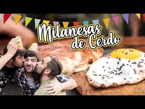 Milanesas de Cerdo con Latke de Papa y Huevos Fritos | Cook & Laucha 2x1