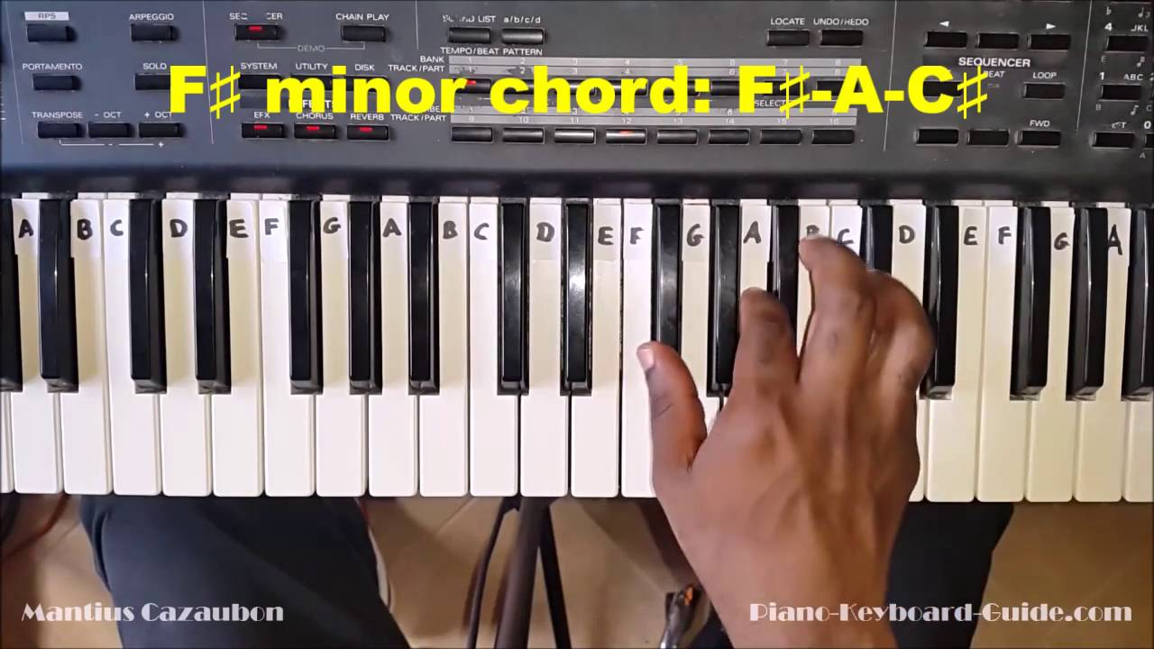 How to play the f sharp minor chord f minor on piano and how to play the f sharp minor chord f minor on piano and keyboard fm fmin hexwebz Images