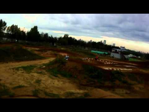 Sergey Lebedev in racing track training