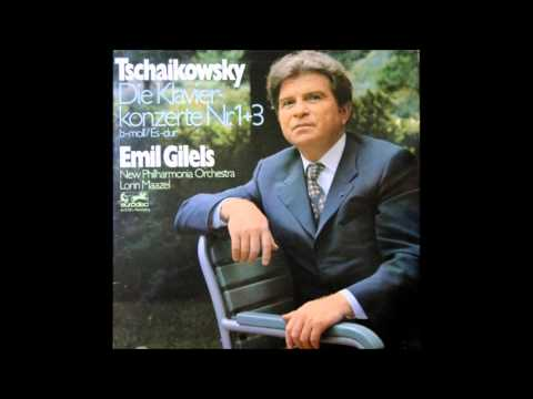 P.I.Tchaikovsky Piano Concerto No.3 In E Flat Major Op.75, Emil Gilels