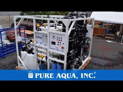 Commercial Offshore Seawater Reverse Osmosis Package Malaysia 2X 3,200 GPD | www.pureaqua.com