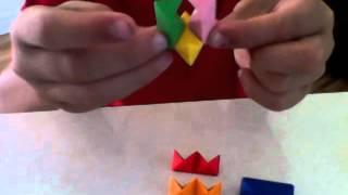 Radiergummi-würfel-stern-ball zusammenbauen anleitung