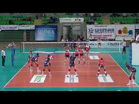Martyna Grajber OUTSIDE HITTER  Polish League 2017-2018 nr 20 navy blue shirt