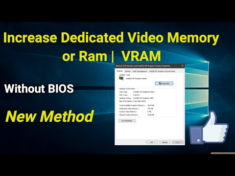 How to Increase Dedicated Video Ram or Memory | VRam Without BIOS - New method