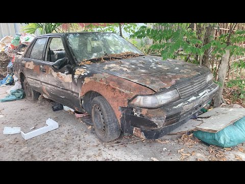 Restoration Car TOYOTA CORONA rusty – Repair manual Comprehensive restore old cars – Part 1