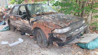 Restoration Car TOYOTA CORONA rusty - Repair manual Comprehensive restore old cars - Part 1
