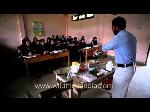 The IXth Standard Chemistry class- At Ziro Valley school