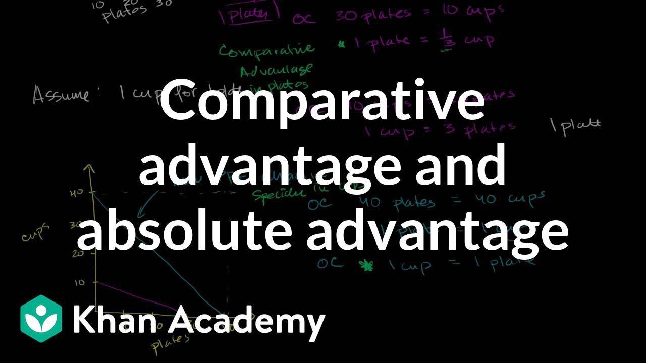 Comparative advantage vs absolute advantage (video) | Khan