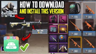 How To Download And Install Pubg Mobile Korean Version | Free Gunskins And Nice Outfits | in Hindi