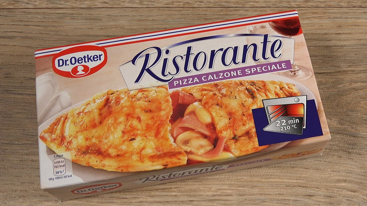 pizza calzone dr oetker ristorante youtube. Black Bedroom Furniture Sets. Home Design Ideas