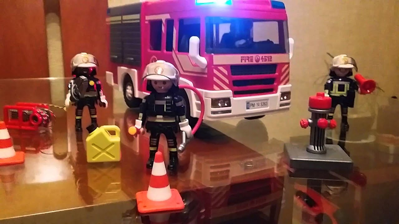Camion de bomberos playmobil youtube - Playmobil camion ...