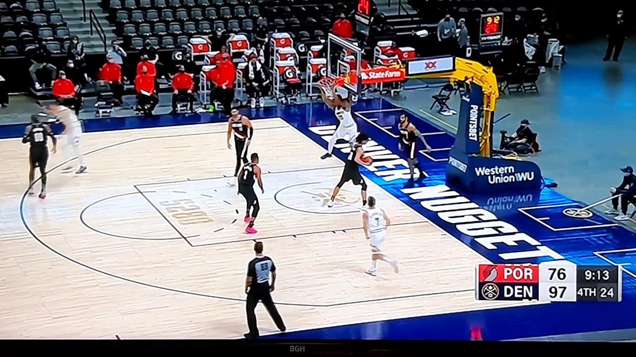 VIVO FACUNDO CAMPAZZO NUGGETS VS TRAIL BLAZERS NBA 2020. - YouTube