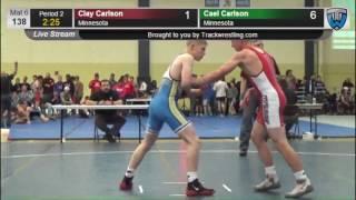 1093 Junior Men 138 Clay Carlson Minnesota vs Cael Carlson Minnesota 7859976104