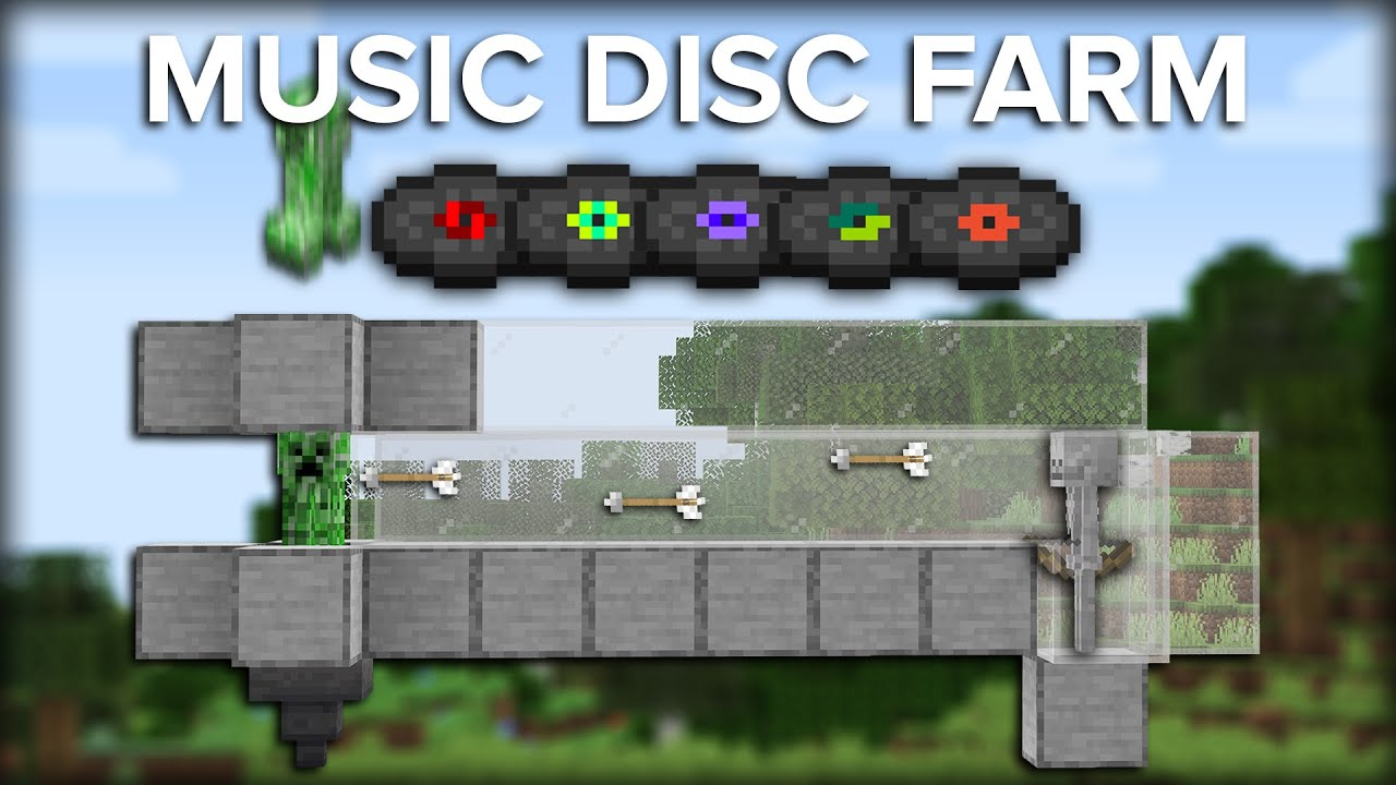 Minecraft Music Disc Farm Over 150 Discs Per Hour Fully Automatic Youtube