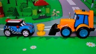 Мультфильмы для детей с машинками - Гонки наперегонки!
