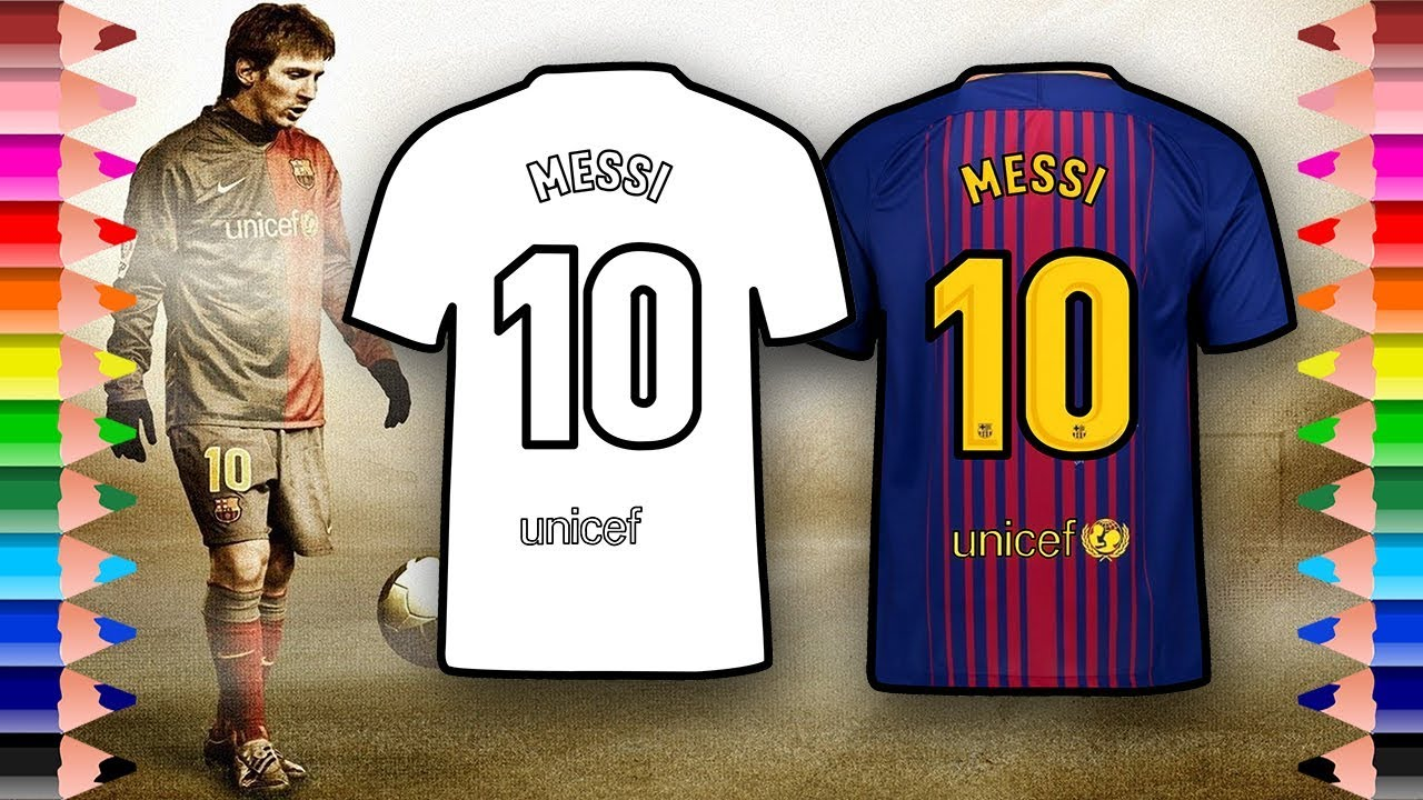 messi holding jersey coloring pages  jersey collection