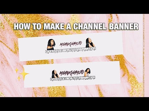HOW TO MAKE A YOUTUBE BANNER ON YOUR IPHONE FREE & EASY!!😱