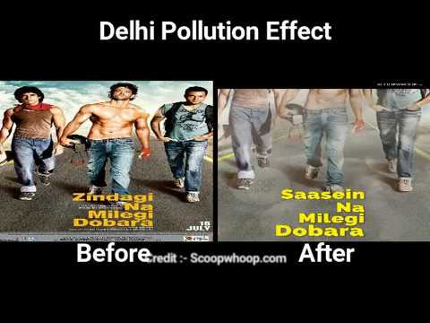 Bollywood Posters Based On Delhi Pollution
