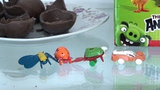 Egg surprise Angry birds unwrapping