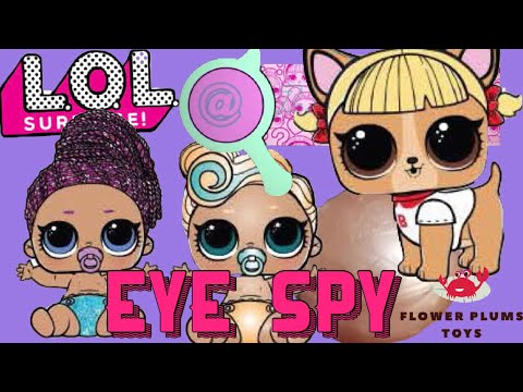 LOL Surprise EYE SPY Lil Sisters and Pet - 2 GOLD BALLS - Series 4 flower Plums Toys