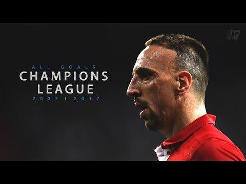 Franck Ribéry ► All Champions League Goals   2007 - 2017 • HD