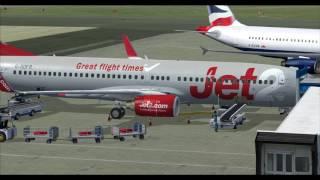 fsx 2018 london city to glasgow airport flight simulator