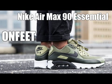 onfeet-nike-air-max-90-essential-oliveblack-review-|-sneakers.by