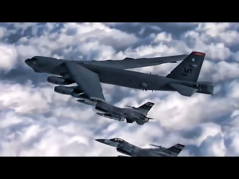 U.S. B-52 Inflight From Guam • Show Of Force To North Korea