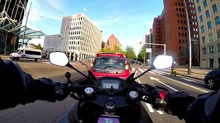 Exploring Rotterdam the Netherlands on the Honda CBR500R Motorcycle