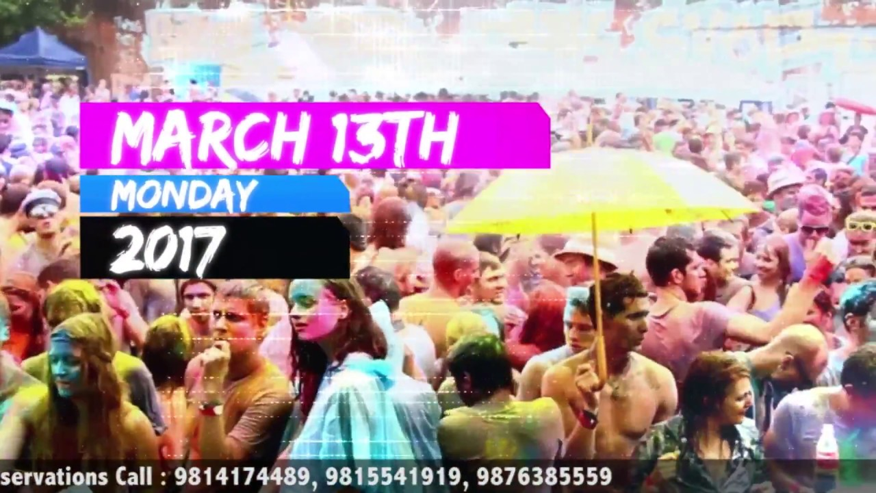 Holi Party Invitation - Popcorn Videos - YouTube