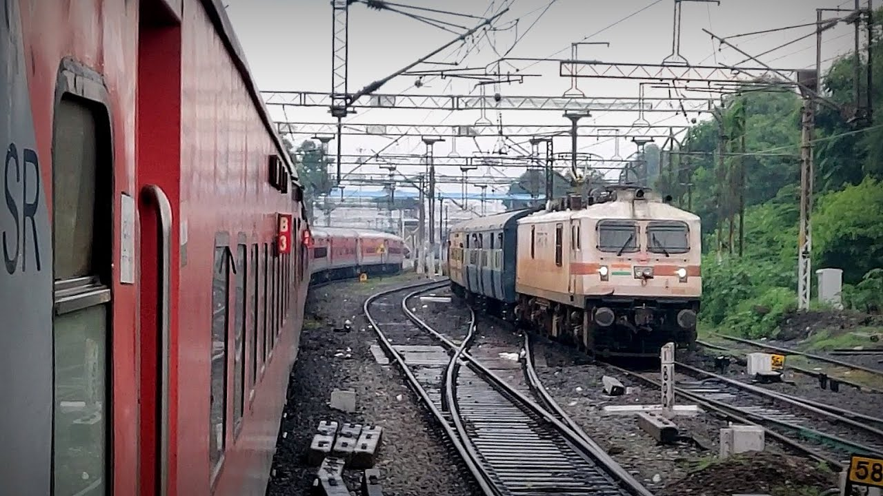 Racing Trains | Cheran & Tamil Nadu Express battle to enter Chennai Central | Indian Railways
