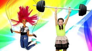 Видео про куклы Барби. Как Терезе похудеть? Разберемся в Салоне красоты! Игры в куклы